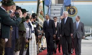 Obama chega à Alemanha para a Cúpula do G7