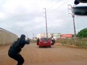 Vídeo mostra prisão de quadrilha no RN suspeita de fazer empresário refém (Foto: Divulgação/Polícia Militar do RN)