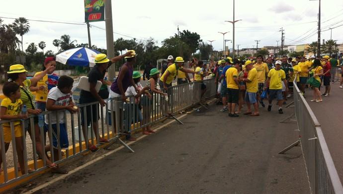 Fan Walk escancarou desigualdades (Foto: João Marcelo Sena)