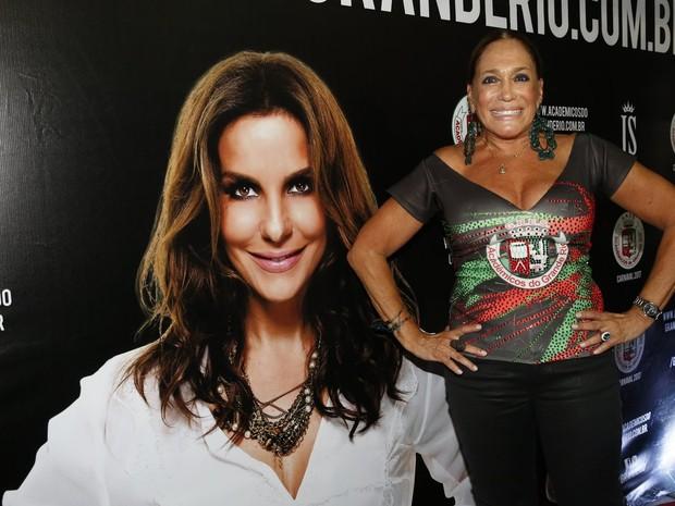 Susana Vieira na quadra da Grande Rio, em Duque de Caxias, na Baixada Fluminense, no Rio (Foto: Marcos Serra Lima/ EGO)