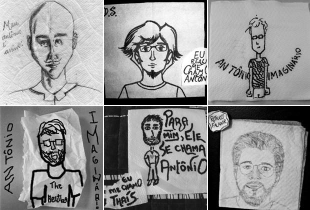 """AS IMAGENS ENVIADAS POR SEGUIDORES PARA O CONCURSO """"aNTÔNIOS iMAGINÁRIOS"""" (Foto: Reprodução/Eu me chamo Antônio)"""