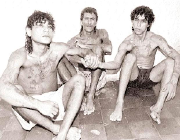 'Naldinho do Mereto', 'Paulo Queixada' e 'Demir' formaram o 'Trio Ternura' nos anos de 1980 (Foto: Herácles Dantas)