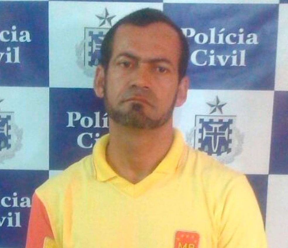 José Roberto foi preso suspeito de estuprar três enteadas na Bahia. Uma delas, de 15 anos, engravidou (Foto: Polícia Civil/ Divulgação)