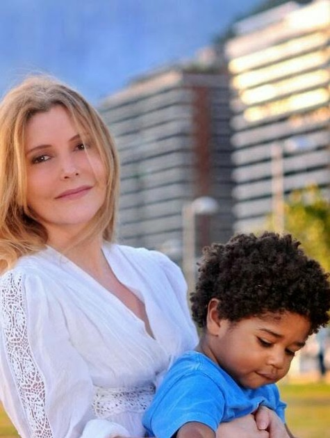 Maria Padilha e o filho, Manoel (Foto: Arquivo pessoal)