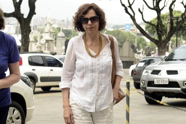 Velório Yoná Magalhães - Stella Freitas (Foto: Roberto Teixeira/EGO)
