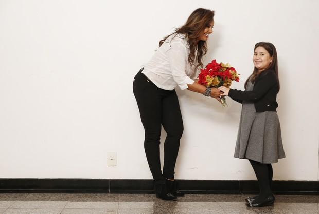Solange Couto e a sobrinha Maria Luiza (Foto: Marcos Serra Lima/EGO)