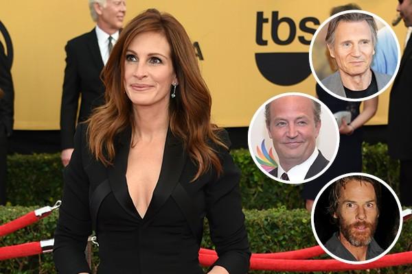 Julia Roberts, Liam Neeson, Matthew Perry e Daniel Moder (Foto: Getty Images)