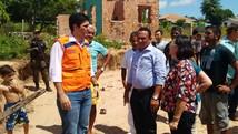 Ministro da Integração visita áreas afetadas após chuva (Poliane Guimarães/TV Tapajós)