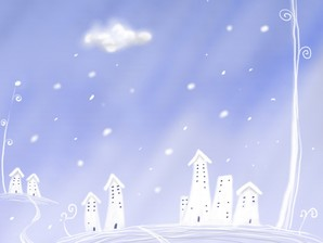 Winter Town Illustration