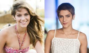 Com uma personagem vítima de leucemia, em 'A lei do amor', Isabella Santoni deixou os cabelos longos para trás | TV Globo