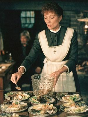 A atriz Stéphane Audran em cena de 'A festa de Babette' (Foto: Divulgação)