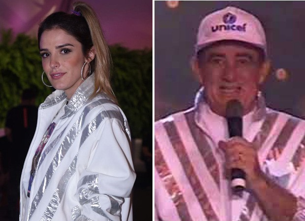 Rafa Brites usa jaqueta que foi de Renato Aragão (Foto: Ed Globo)