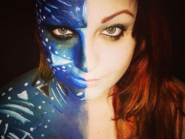 Publicitária faz sucesso com maquiagens nerds (Foto: Mariana Ferreira/ Arquivo Pessoal)