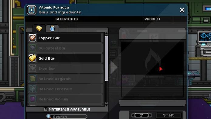 Em Starbound você pode criar, replicar, reciclar e fazer upgrades em vários objetos (Foto: Reprodução/Tais Carvalho)