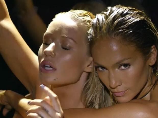 Iggy Azalea e Jennifer Lopez em ação no clipe da música Booty (Foto: Youtube/ Reprodução)