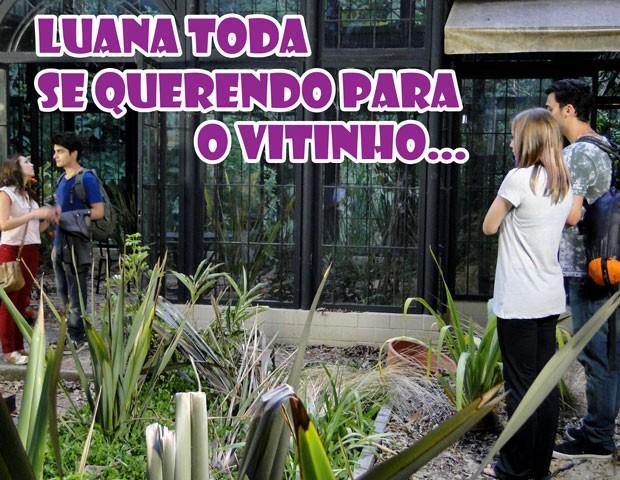 Saca só o climão nessa foto. rsrsrs (Foto: Malhação / TV Globo)