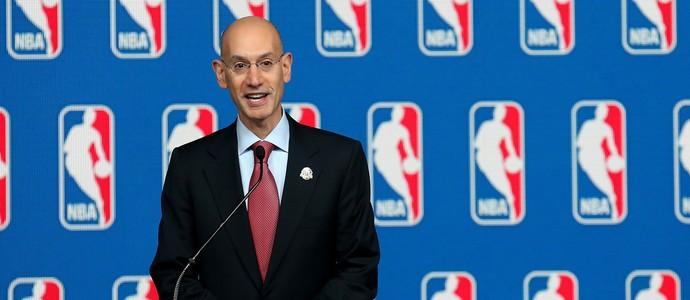 coletiva Adam Silver, comissário da NBA, no All-Star Game (Foto: Getty Images)