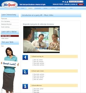 A Wespeak é uma rede social gratuita criada por brasileiros para estudar inglês. (Foto: Reprodução)