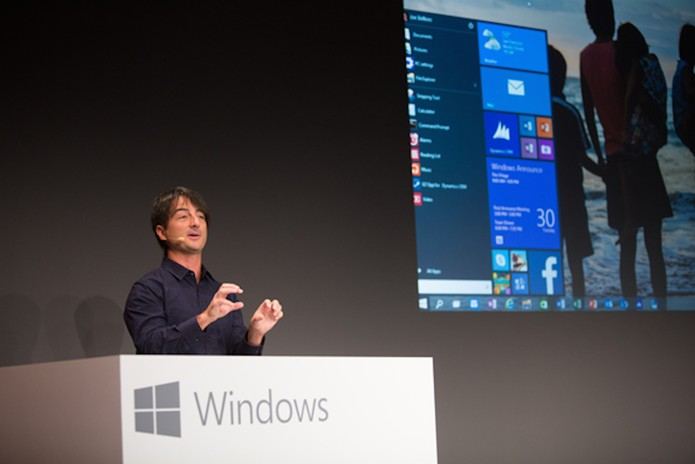Joe Belfiore mostra novo Menu Iniciar do Windows 10 (Foto: Divulgação/Microsoft)