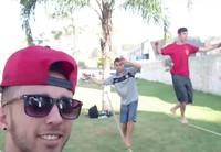 A galera de casa enviou vídeos selfie (Johnny da Silva/VC no G1)