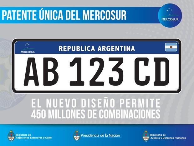 Carros novos terão a placa comum ao Mercosul (Foto: Divulgação)