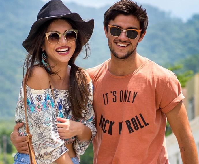 Anaju Dorigon e o parceiro de cena Felipe Simas em Malhação Sonhos (Foto: Isabella Pinheiro / Gshow)