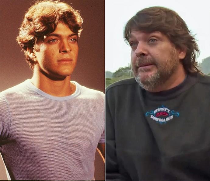 Antes e depois! À esquerda, Roberto Bataglin em 'Partido Alto', de 1984, sua primeira novela na TV e, à direita, em momento atual (Foto: CEDOC / Vídeo Show / TV Globo)