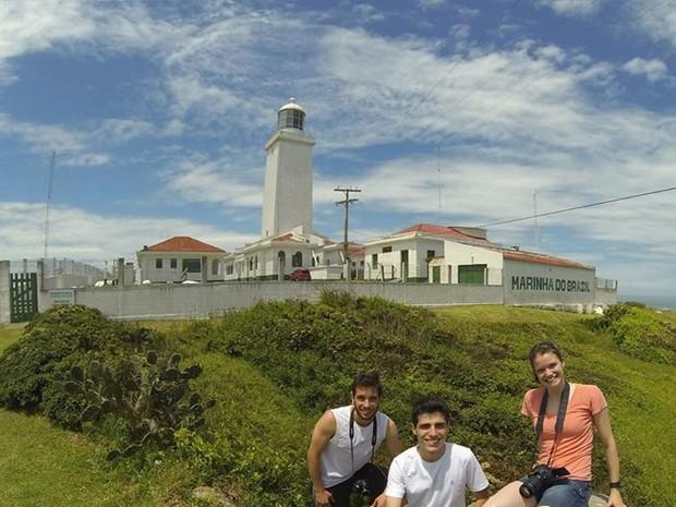 Grupo pedalou 30 quilômetros até o Farol (Foto: Igor Tiburcio/Arquivo pessoal)