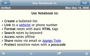 Download Notebook para iPhone
