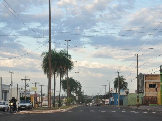 Céu em Campo Grande na manhã desta terça-feira (3). (Foto: Gustavo Arakaki/ G1 MS)