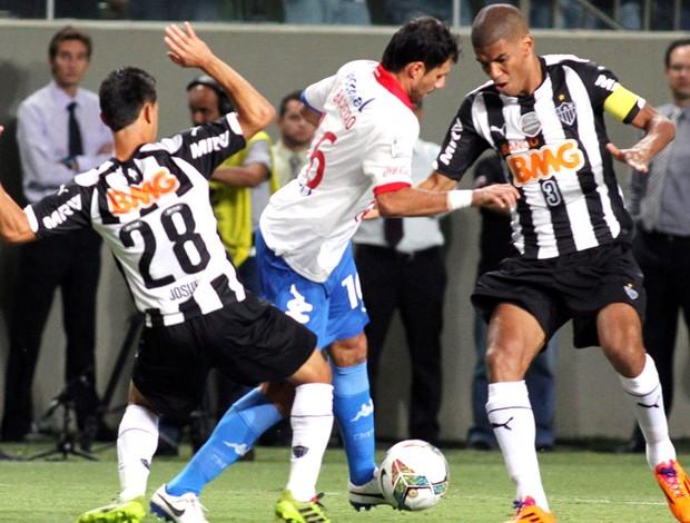 Leonardo Silva jogo Atlético-MG contra Nacional-PAR (Foto: EFE)