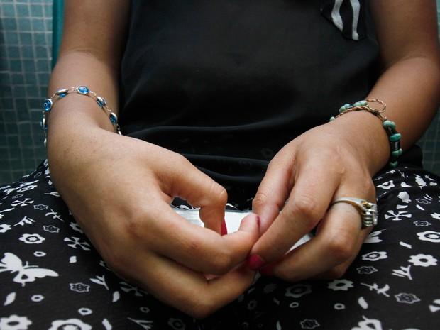 A colombiana Maria Camila Davila, está grávida e foi infectada pelo zika vírus; Colômbia foi um dos países que recomendou que mulheres adiassem gravidez  (Foto: Schneyder Mendoza/AFP Photo)