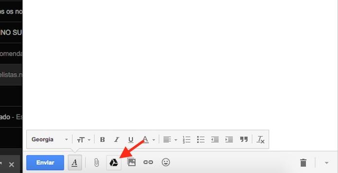 Buscando arquivos do Google Drive para anexar em um e-mail (Foto: Reprodução/Marvin Costa)