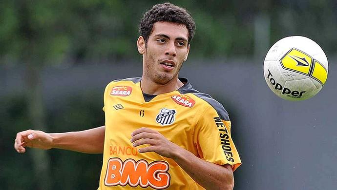 Dimba no treino do Santos (Foto: Ricardo Saibun / Site Oficial do Santos)