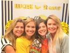 Bárbara Borges reencontra ex-paquitas em festa