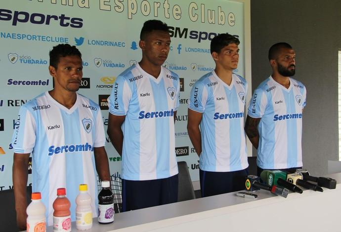 Fabinho, Quaresma, Ayrton e Thiago Cunha Londrina (Foto: Wellington Ferrugem/Londrina Esporte Clube)