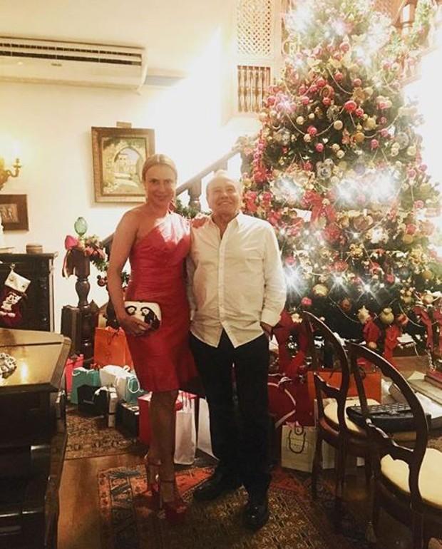 Marilene Saade e Stênio Garcia no Natal (Foto: Reprodução/Instagram)