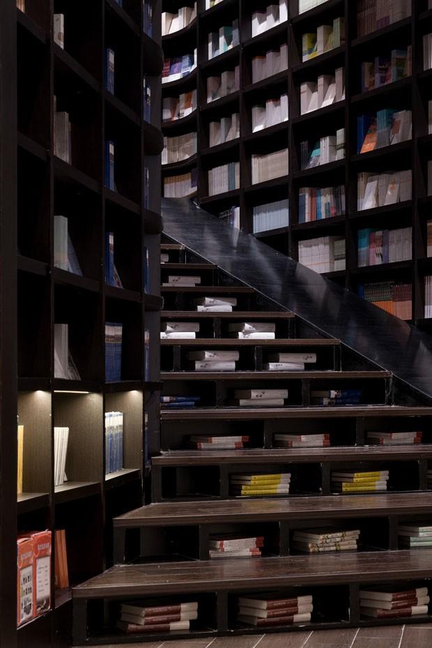 Uma livraria na China inspirada nas florestas de bambu (Foto: SHAO Feng)
