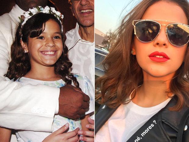 Bruna Marquezine - Antes e depois (Foto: Reprodução / GLOBO / Reprodução/Instagram)