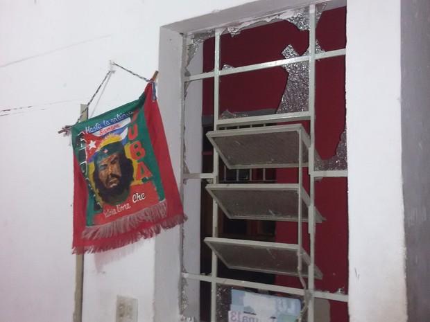 Diretório do PT na região central foi alvo de bomba (Foto: Divulgação/PT-SP)