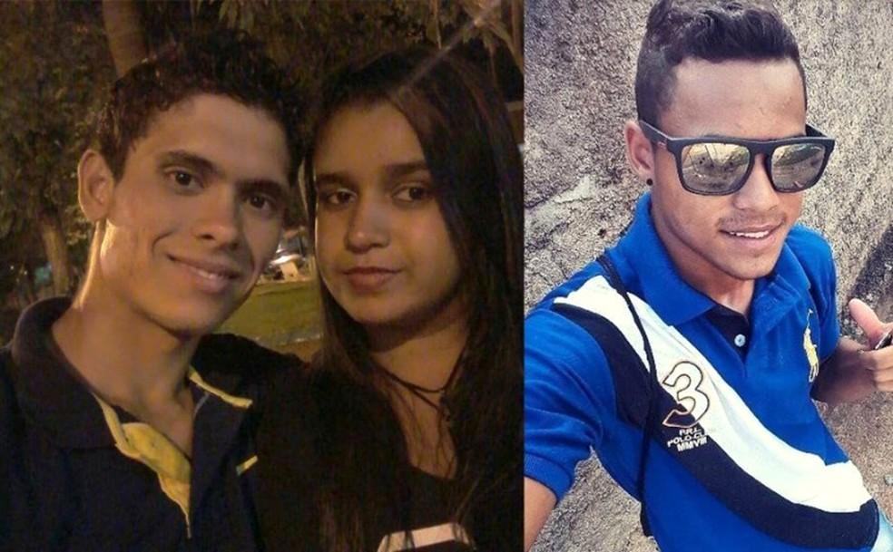 Rafael Charuto (à esq.), Ingrid Cristina Barros e Gustavo Henrique dos Santos Araújo morrem no acidente  (Foto: Reprodução/Facebook)