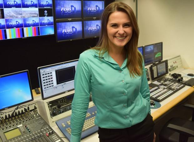 Cinthia Raasch assume reportagem diária do RBS Notícias no Norte de SC (Foto: André Buzzi/RBS TV)