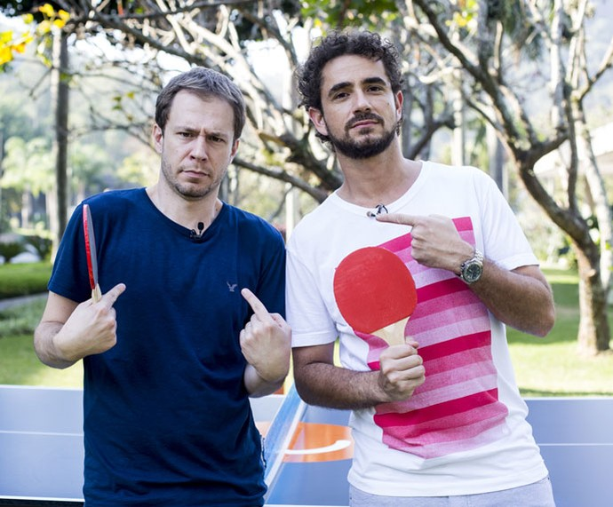 "Tiago Leifert e Felipe Andreoli conversam no estilo ""pingue-pongue"" (Foto: Ellen Soares/Gshow)"