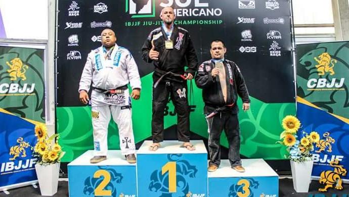 Rondoniense Alemão conquista ouro no Sul Americano de Jiu-Jítsu categoria Master Pesadíssimo Absoluto  (Foto: Alemão/ arquivo pessoal )