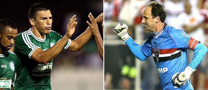 montagem Lúcio e Rogério Ceni Palmeiras x São Paulo (Foto: Editoria de Arte)