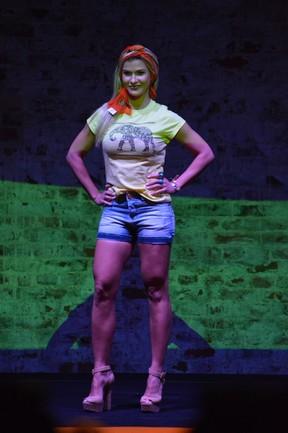 Andressa Suita em evento de moda no Recife (Foto: Felipe Souto Maior/ Ag. News)