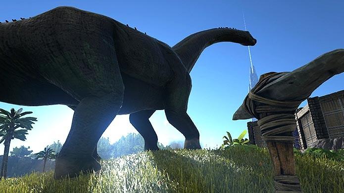 Os cenários de Ark impressionam pelos detalhes (Foto: Reprodução/Tais Carvalho)
