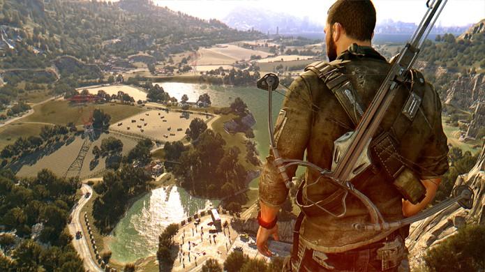 A expansão Dying Light: The Following adicionou uma área enorme para explorar no game e um veículo para percorrer essa distância (Foto: Reprodução/GameSpot)