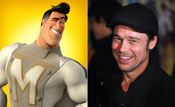 Voz de Metro Man pertence a Brad Pitt (Foto: Divulgação / Reprodução)