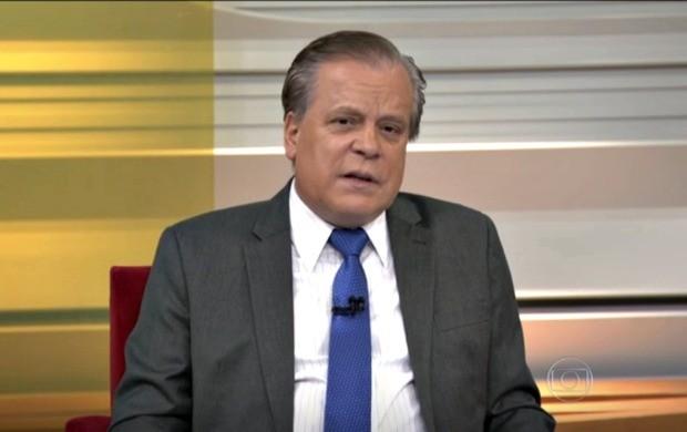 Apresentador do Bom Dia Brasil. Chico Pinheiro. destacou novo tremor de terra no AC (Foto: Bom Dia Brasil)